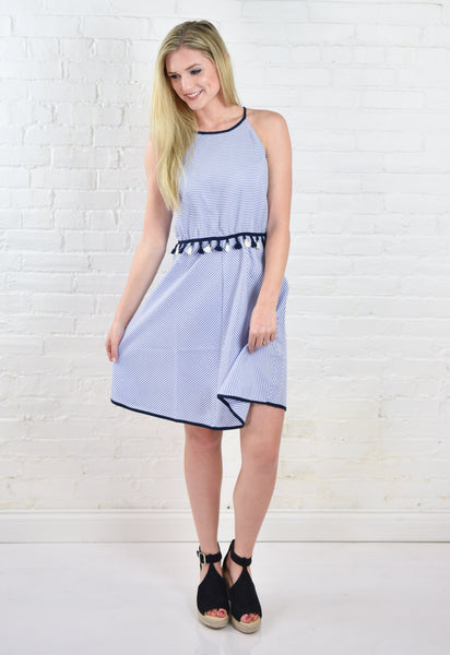 Brynn Stripe Halter Dress