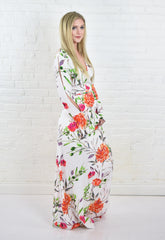 Amy Flower Wrap Dress