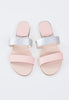 Britt 2 Strap Blush & Metallic Sandals