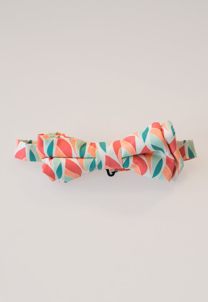 Goff Club Collection: Coral/Teal Bow Tie