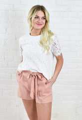 Elli Lace Top - White