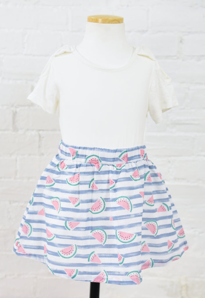 Rudy Striped Watermelon Skirt
