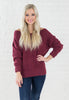 Burgundy Boucle Sweater