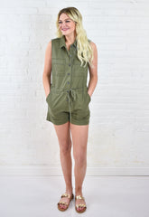 Vinny Button Up Romper