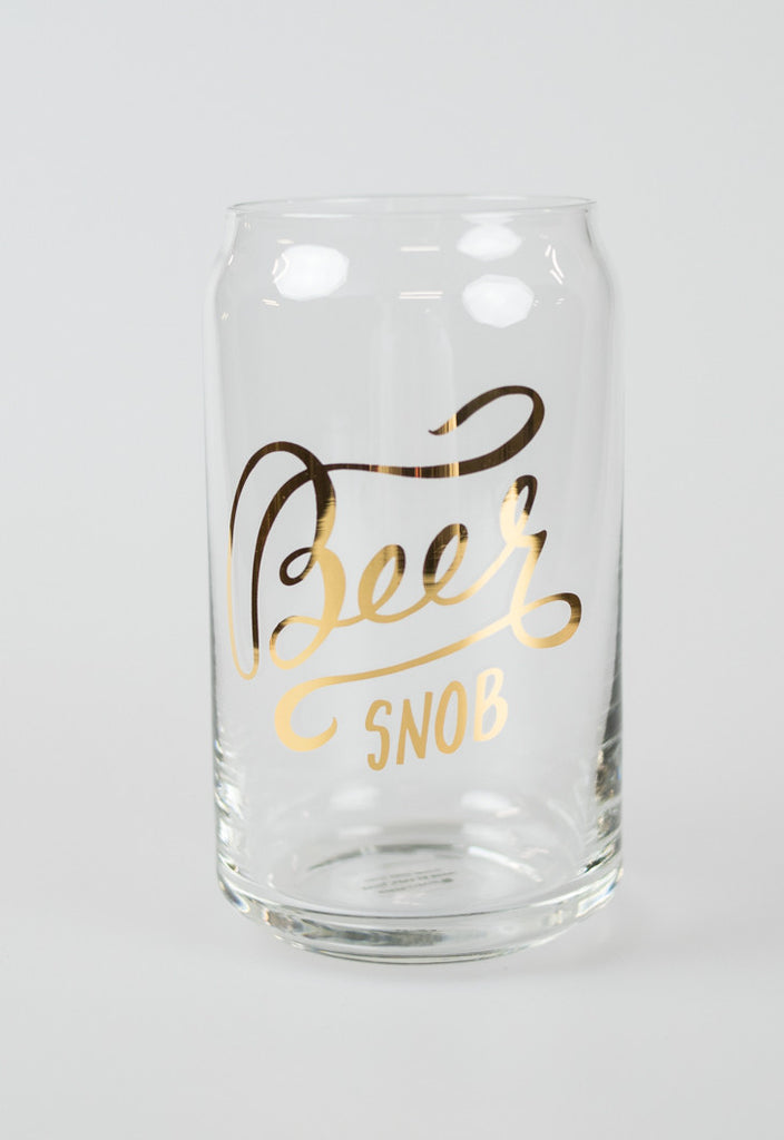 'Beer Snob'Glass