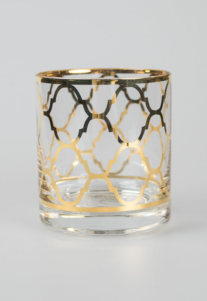 Gold Manor Glasses - Quatrefoil