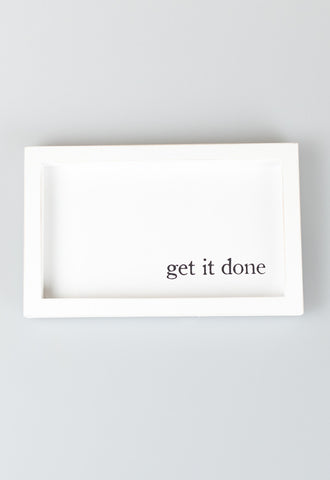 'Get It Done' Work Hard Frames by Mud Pie