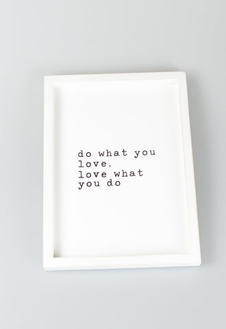 'Do What You Love...' Work Hard Frames by Mud Pie