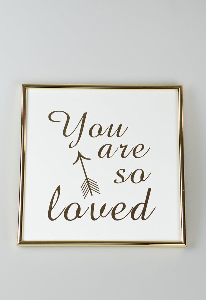 'You Are So Loved' Gold Framed Art