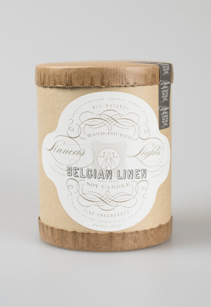 Linnea's Lights Core Candle - Belgian Linen