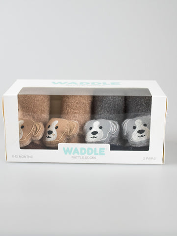 Animal Waddle Rattle Socks - Puppy