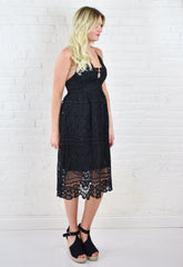 Corrine Lace Cocktail Midi Dress