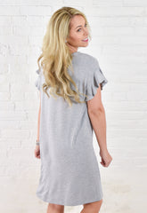 Kallie Ruffle Sleeve Dress