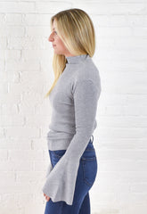 Marion Bell Sleeve Sweater - Grey