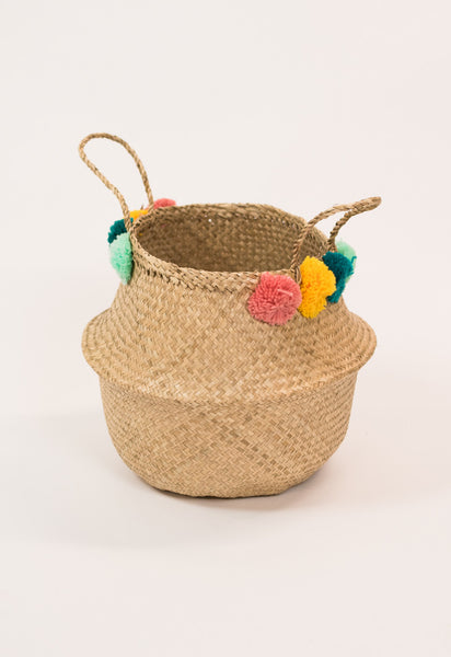 Pom Pom Belly Basket by Olli Ella
