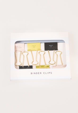 Winks Binder Clips by Brittany Fuson