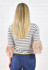 Ronnie Fringe Cuff Top