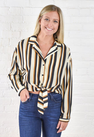 Elizabeth Stripe Button Up