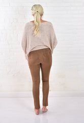 Luxe Faux Suede Leggings - Mocha