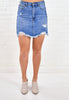 Fray Denim Skirt