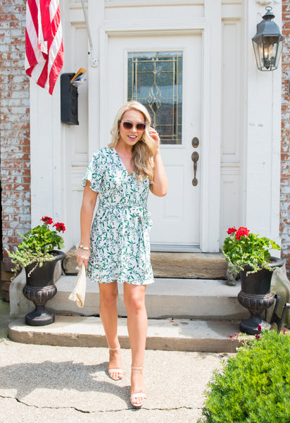 Sara Floral Wrap Dress
