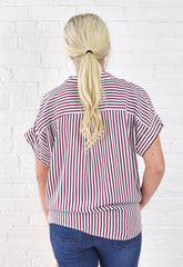 Jennifer Striped Button Down
