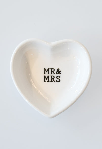 'Mr & Mrs' Sweet Small Plates by Mud Pie