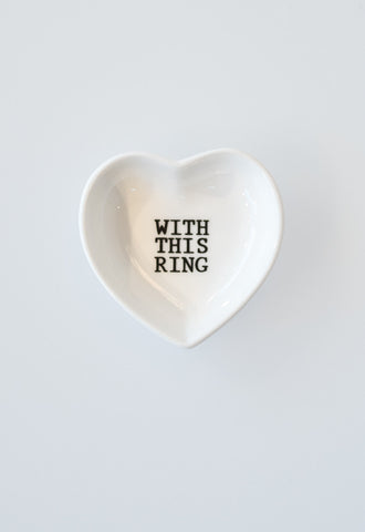 'With This Ring' Sweet Small Plates by Mud Pie