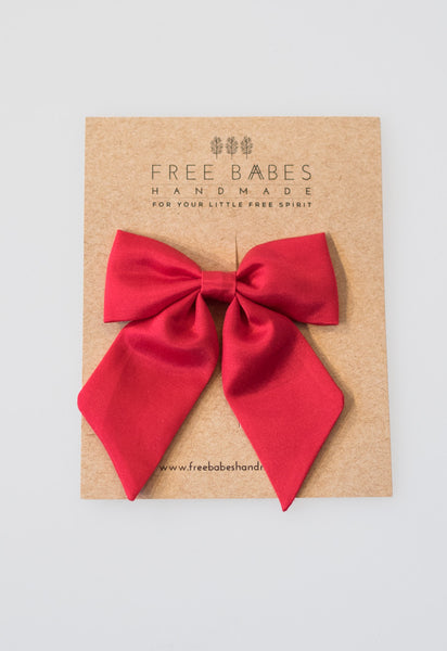 Large Sailor Bow - Red