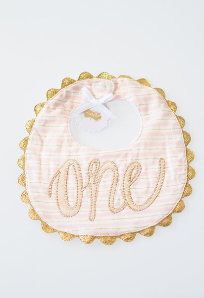 'One' Bib by Mud Pie