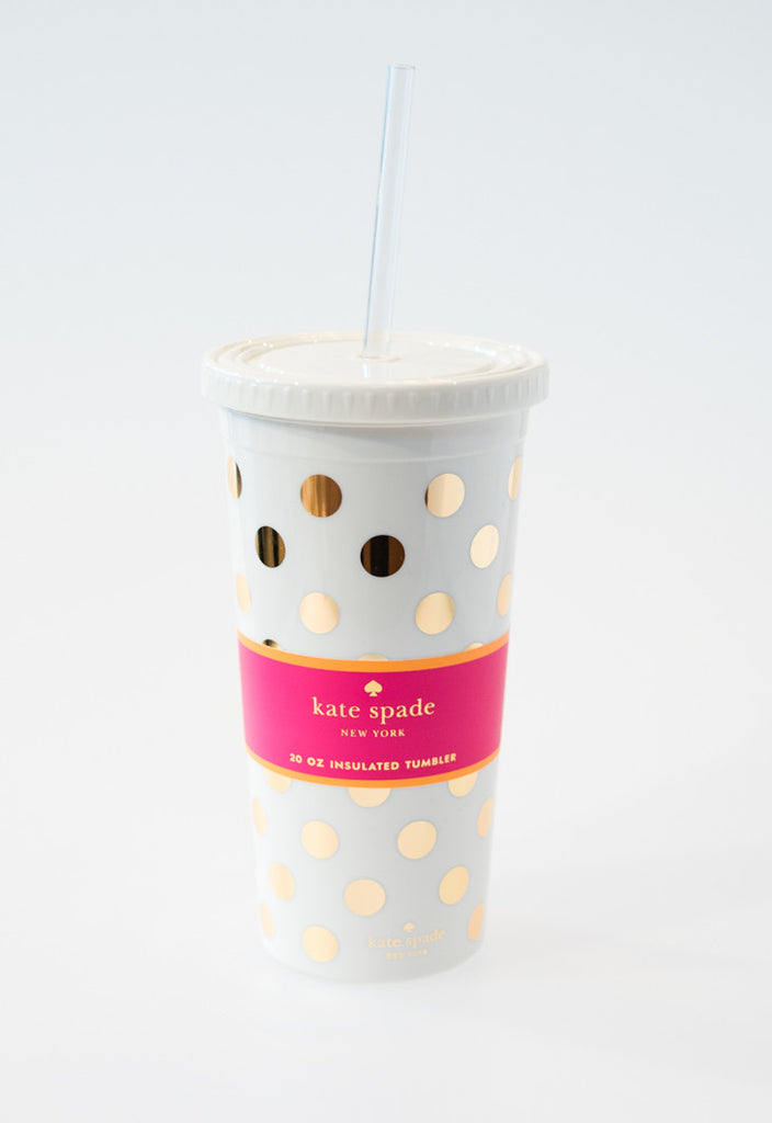Gold Dots Tumbler by Kate Spade