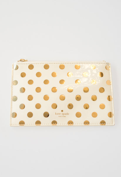 Gold Dot Pencil Pouch by Kate Spade