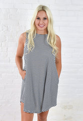Erin Stripe Shift Dress