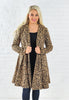 Leopard Fit & Flare Coat