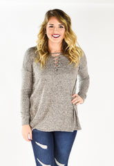 Chloe Front Lace So Soft Sweater