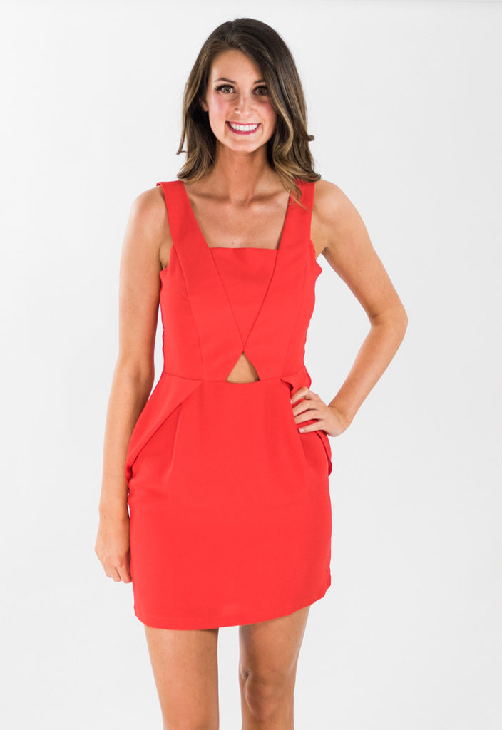 Kylie Red Derby Day Dress