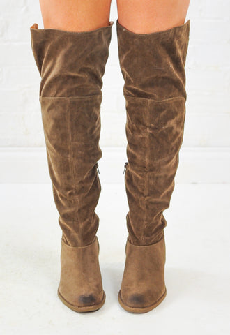 Tara Suede Over the Knee Boots