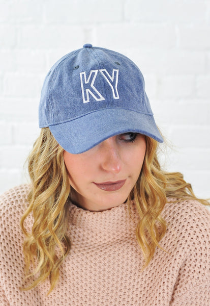 State Initial Basebell Hat - KY
