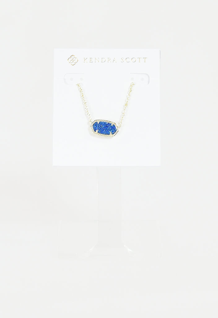 Elisa Necklace by Kendra Scott - Gold Cobalt Drusy