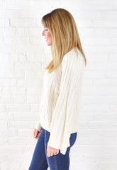 Ollie Crew Neck Sweater - Cream