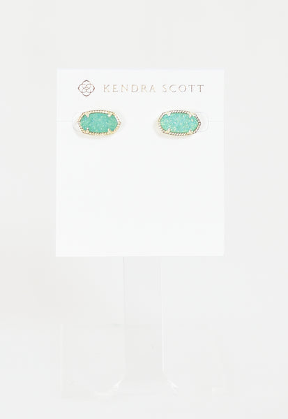Ellie Earring by Kendra Scott - Gold Teal Drusy