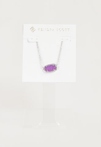 Elisa Necklace by Kendra Scott - RHOD Violet Drusy