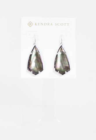 Carla Earrings by Kendra Scott - RHOD Black MOP
