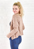 Jillian Throw On Jacket - Sand