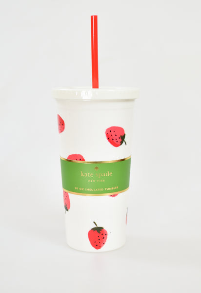 Strawberries Tumbler by Kate Spade
