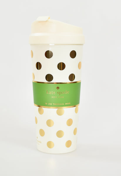 Kate Spade Thermal Mug - Gold Dots