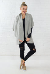 The Basic Shawl Vest - Stone Grey
