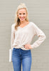 Lilly Front Twist Crop Sweater