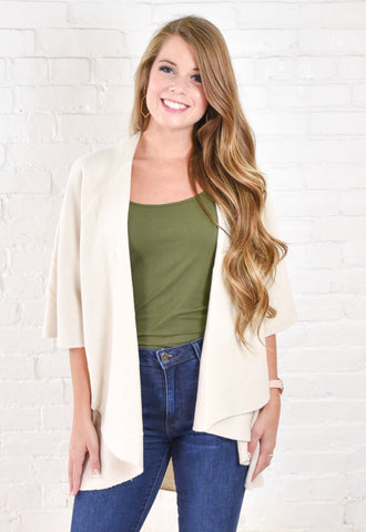 Courtney Throw On Sweater Vest - Cream
