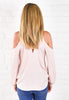 Emily Mock Neck Top - Champagne